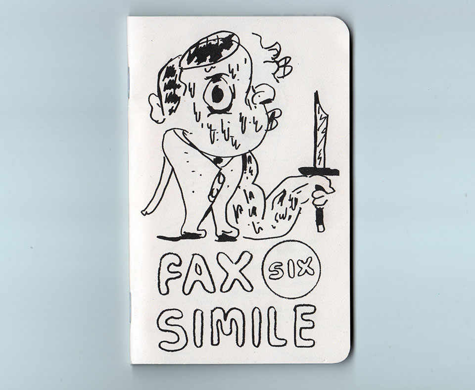 Image for fax simile number six 48 pages black risograph