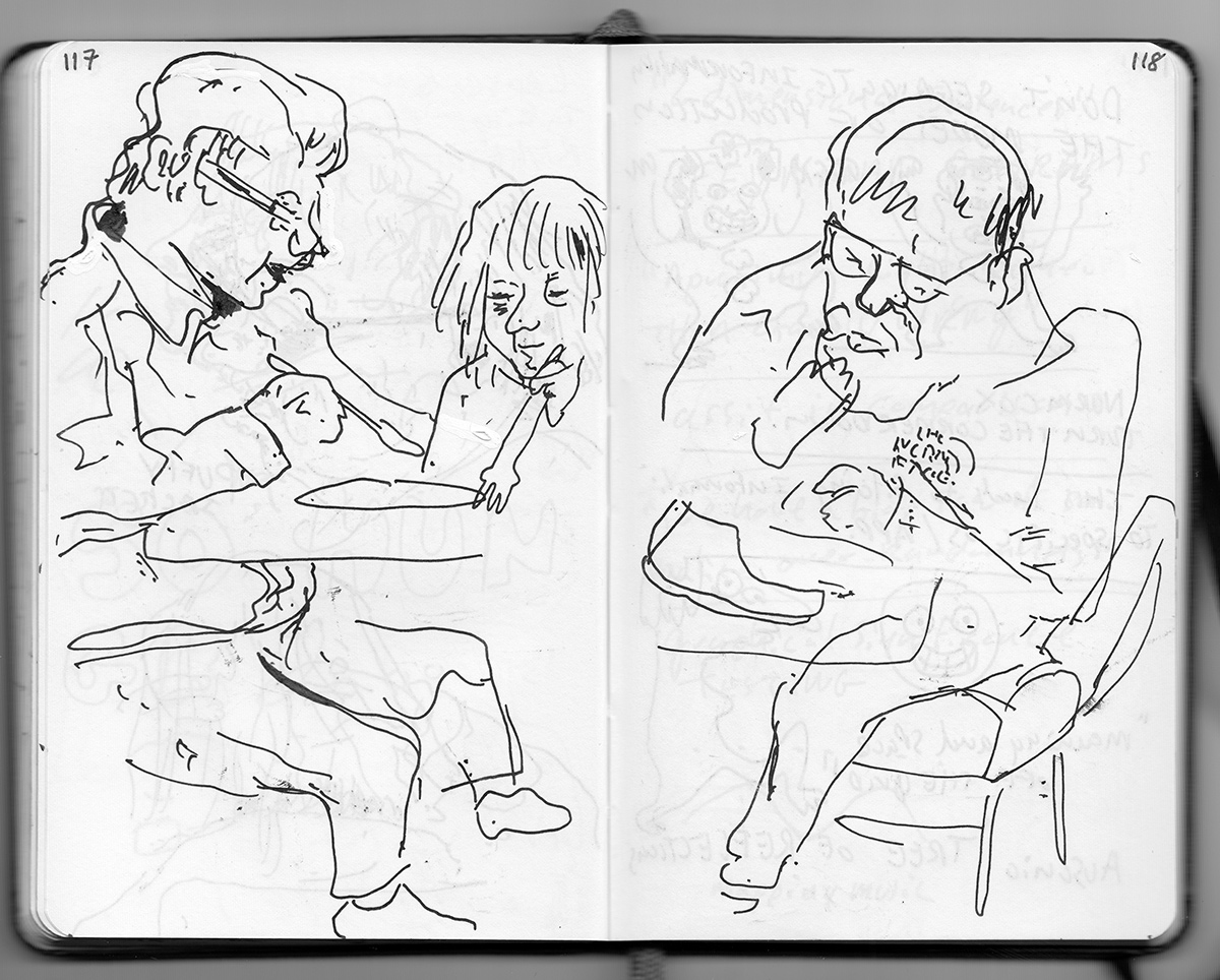 Drawings durning lunch from pages 117 and 118.